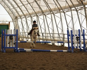 "The ""Rocket Pony"" in 2'3"" jumper class"