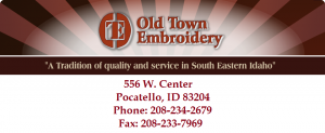 2017 Old Town embroidery logo